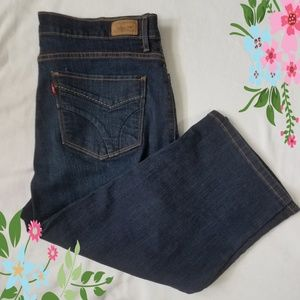 Levi's 512 Perfectly Slimming Capri Jeans Size 16